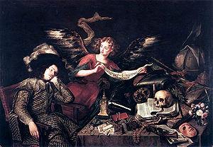 "Lukisan yang berjudul ""The Knight's Dream"" karya Antonio de Pereda"