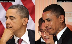 Gambar Perubahan warna  Rambut Obama