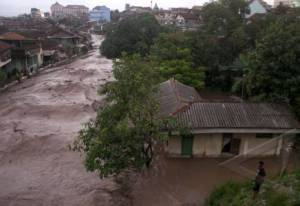 Banjir Lahar Dingin di Kali Code- Foto Antara