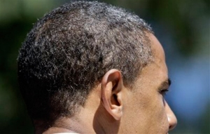Model dan warna rambut Obama